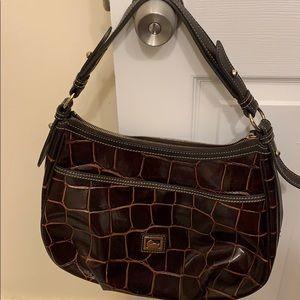 Dooney & Bourke medium brick brown embossed bag